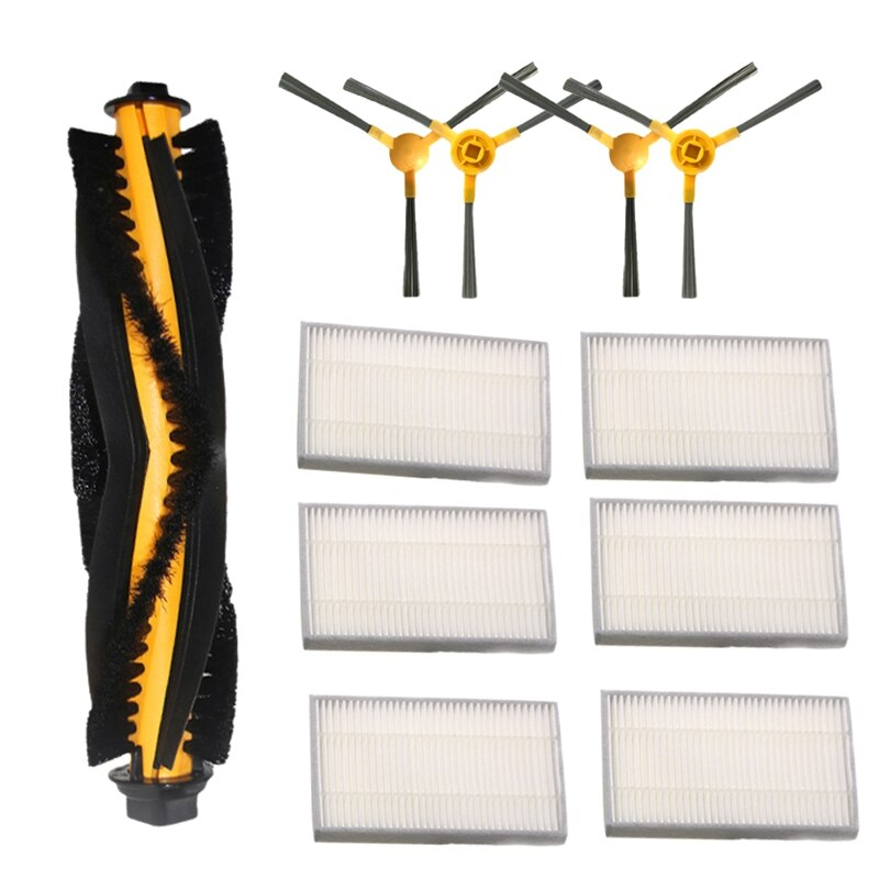 Accessory Kit for Proscenic 800T 820S Vacuum Cleaner Replacement Parts Pack of 1 Main Brush 4 Side Brushes 6 Hepa Filter