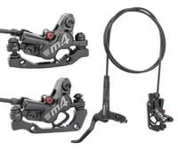 mt420 mtb brake bicycle hydraulic 160mm disc brake four piston front right left rear brake 800 1400mm bike oil brake