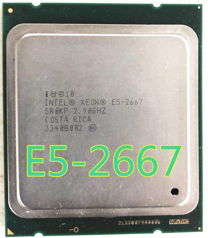 Процессор Intel Xeon E5 2667 2,9 ГГц 6 ядер 15 м 8GT/s E5-2667 LGA2011 130 Вт серверный процессор