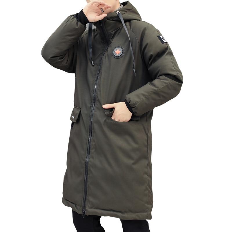 long parkas winter jacket men 2020 New warm Windproof Casual Outerwear Padded Cotton Coat Big Pocket