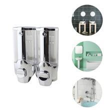 Wall-Mount Soap Dispenser Single-Head Manual Hand Liquid Shampoo Shower Gel Dispenser Lotion Container