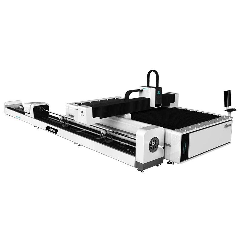 Metal sheet ans tube cutting machine fiber laser cutter with high power best cost than plasma machine