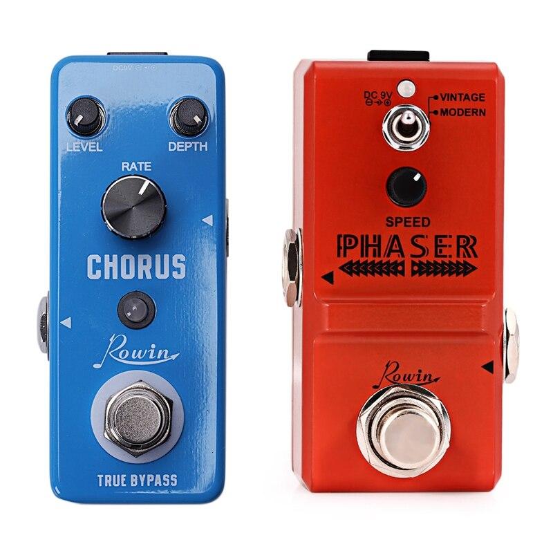 Pedal de efectos de guitarra 2 uds. Pedal Phaser analógico paso verdadero para instrumentos musicales Ln - 313 y Lef - 304