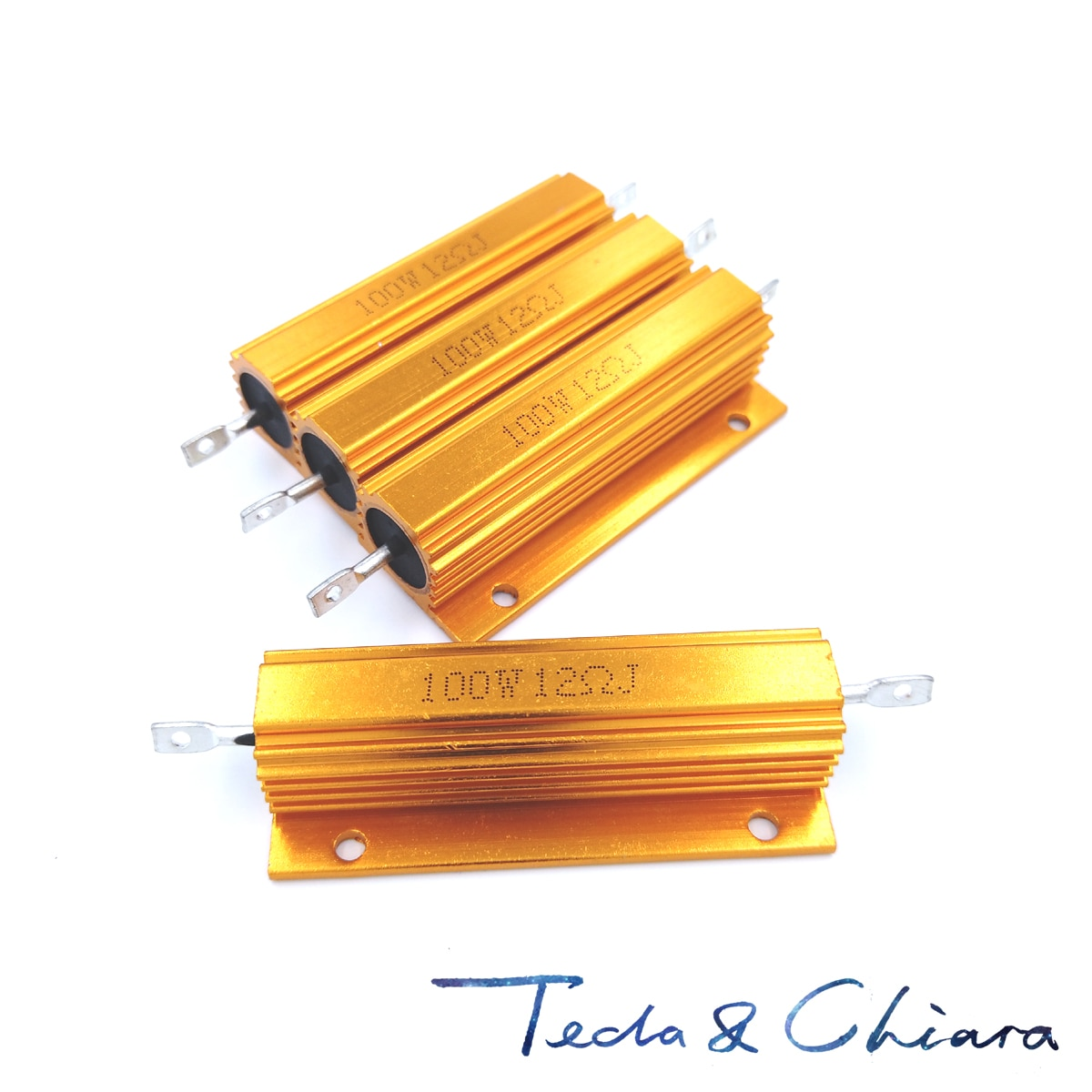 5Pcs 280R 280ohm 280 24R 24ohm 24 R Ohm 100W Watt Aluminum Wirewound Power Metal Shell Case Resistor Resistance RX24