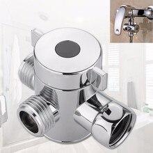1/2 pouce salle de bain trois voies t-adaptateur té connecteur vanne pour toilette Bidet pomme de douche inverseur Valve pomme de douche Shunt
