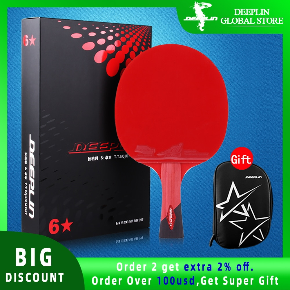 Ping Pong Paddle with Killer Spin Case for Free - Professional Table Tennis Racket for Beginner and Advanced Players 6 7 8 Star