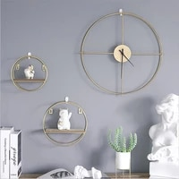 vintage round metal wall clock office decor hanging watches living room classic brief european 3d wall clock home decoration