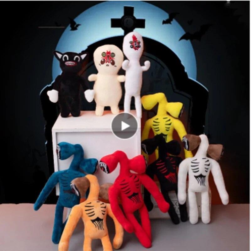 Голова сирены, мягкие плюшевые игрушки, аниме плюшевая кукла, плюшевая кукла-животное со скрытой головой, детские игрушки, подарки, страшные...