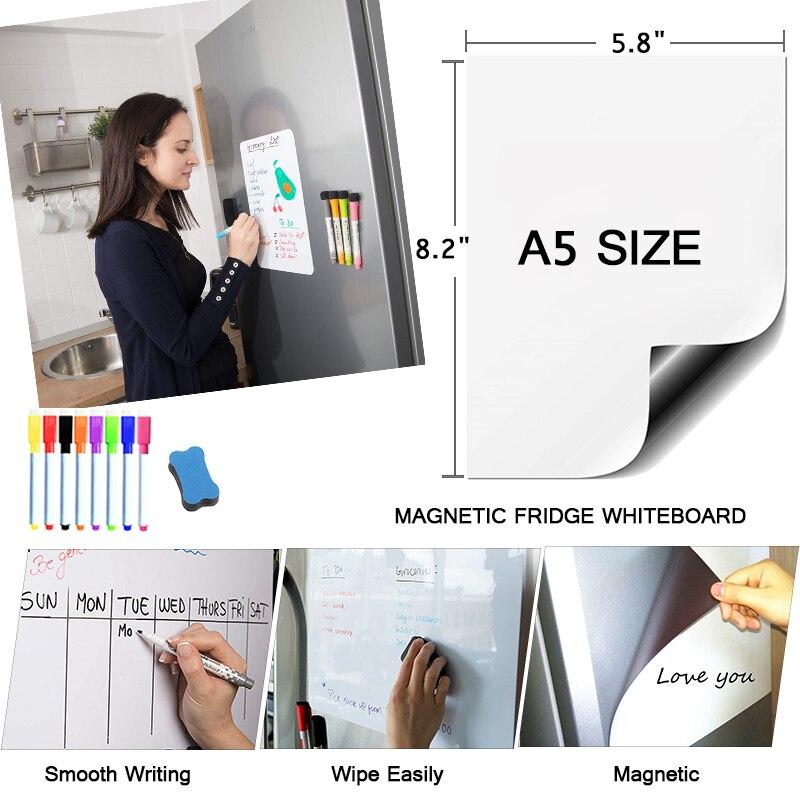 Магнитная доска, доска для сухого стирания, стираемые маркеры, тренировочные письменные чертежи, белая доска для детей, стикеры на дверные д...