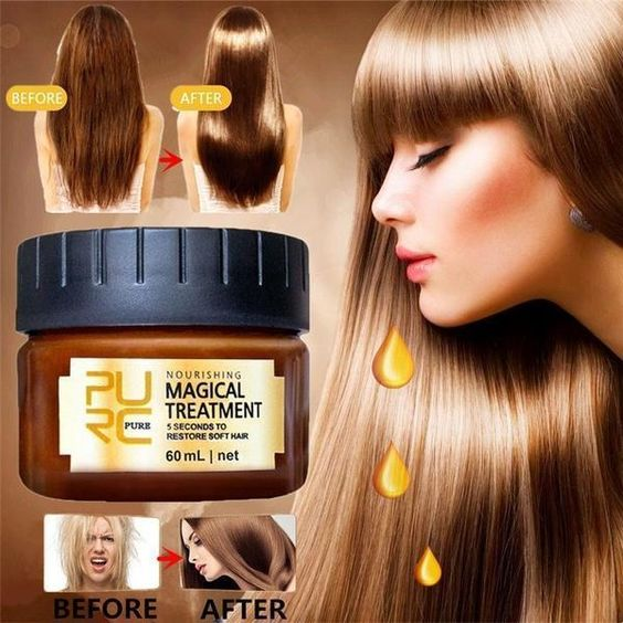 PURC Magical keratin Hair Treatment Mask 5 Seconds Repairs Damage Deep Hair Root Treatment for Silky