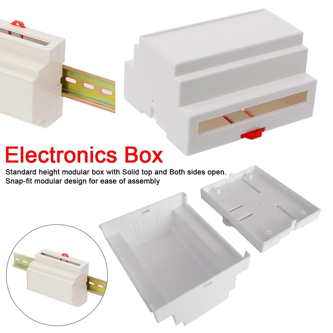 1 шт. Улучшенный корпус пластиковый корпус на din-рейке распределительная коробка электронное оборудование Промышленные корпуса коробка 107*87*59 мм