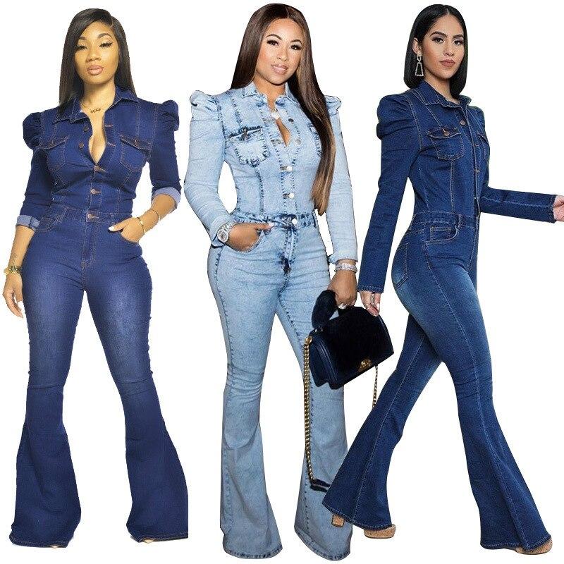 Большой размер, женские джинсы с высокой талией, джинсовый комбинезон, женские повседневные джинсы, горячая распродажа, женский джинсовый к...