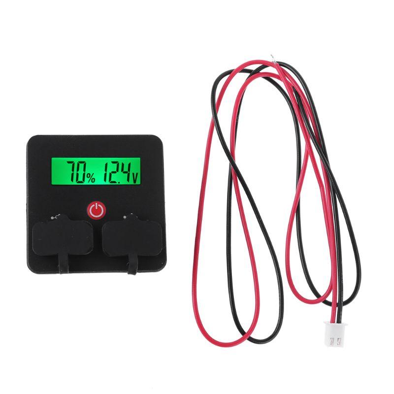 12V 24V Batterie Kapazität Anzeige Voltmeter 3 S-6 S Li-Ion Lifepo4 Blei Säure Batterie Tester mit telefon USB Ladegerät Scoket JS-CU3