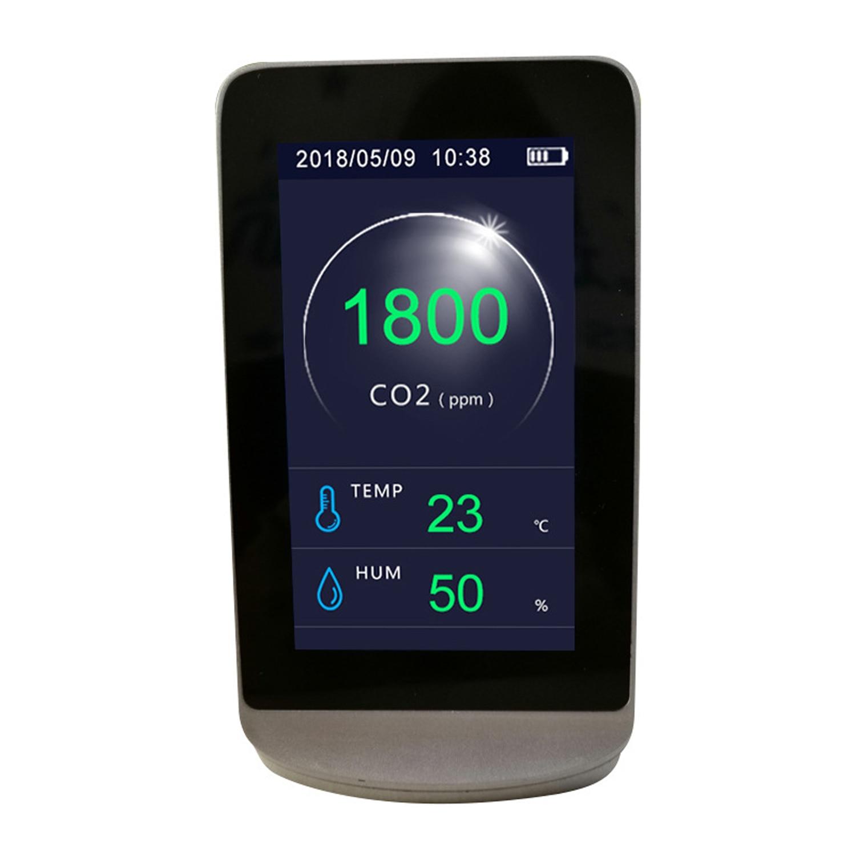 Detector de sensor de CO2, termómetro e higrómetro, Analizador de calidad del aire, Monitor de co2, medidor de 4,3 pulgadas, profesional multifuncional