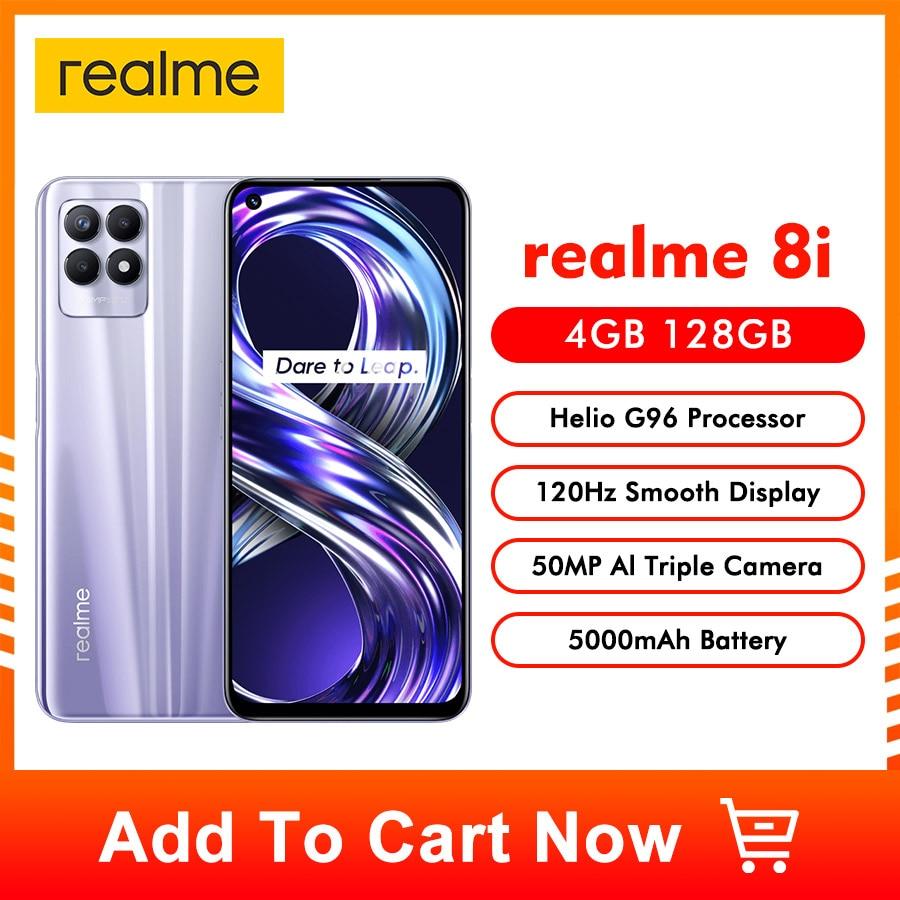 "realme 8i Global Version Helio G96 Octa Core New Smartphone 6.6"" FHD+ 120Hz Display 50MP AI Triple Camera 5000mAh Large Battery"