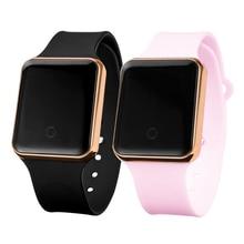 Women Digital Watch 2021 Luxury LED Men's Sport Wristwatch Electronic Clock Lover Watches Silicone B