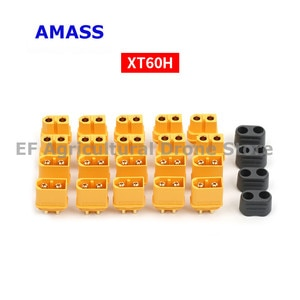 10pcs original Amass XT60+ Plug Connector With Sheath Housing 5 Pair for electric scooter