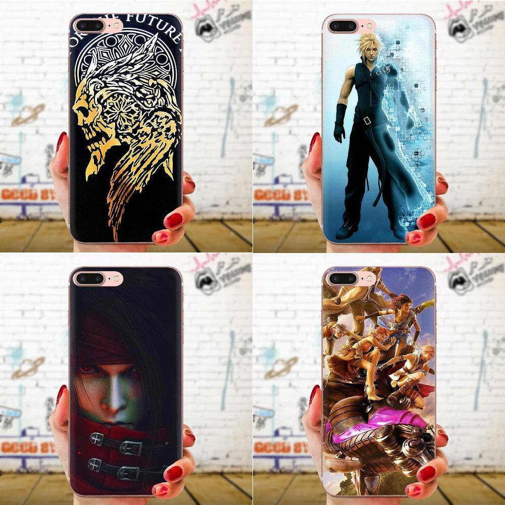 Para Galaxy Grand A3 A5 A7 A8 A9 A9S On5 On7 Plus Pro estrella 2015, 2016, 2017, 2018 TPU del teléfono del diseño de Final Fantasy