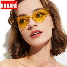 RBRARE Modis une pièce lunettes de soleil femmes Vintage oeil de chat lunettes de soleil couleur bonbon Transparent Okulary Shopping vacances Oculos