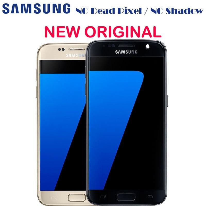 Nueva pantalla LCD Amoled ORIGINAL con marco para Samsung GALAXY S7 G930 G930A G930F SM-G930F G930V LCD digitalizador de pantalla táctil