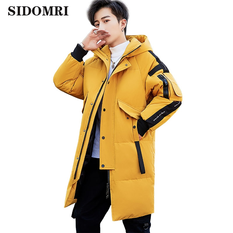 Men's down jacket short version of thick down jacket men's overalls loose winter coat cotton-padded coat mid-long style