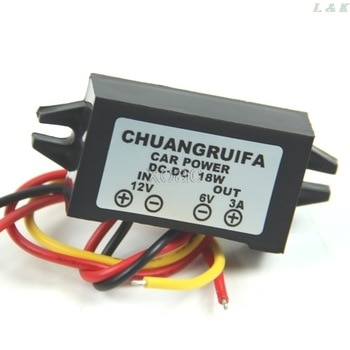 DC/DC Converter 12V Step Down To 6V 18W Max 3A Power Supply Waterproof   M13 dropship