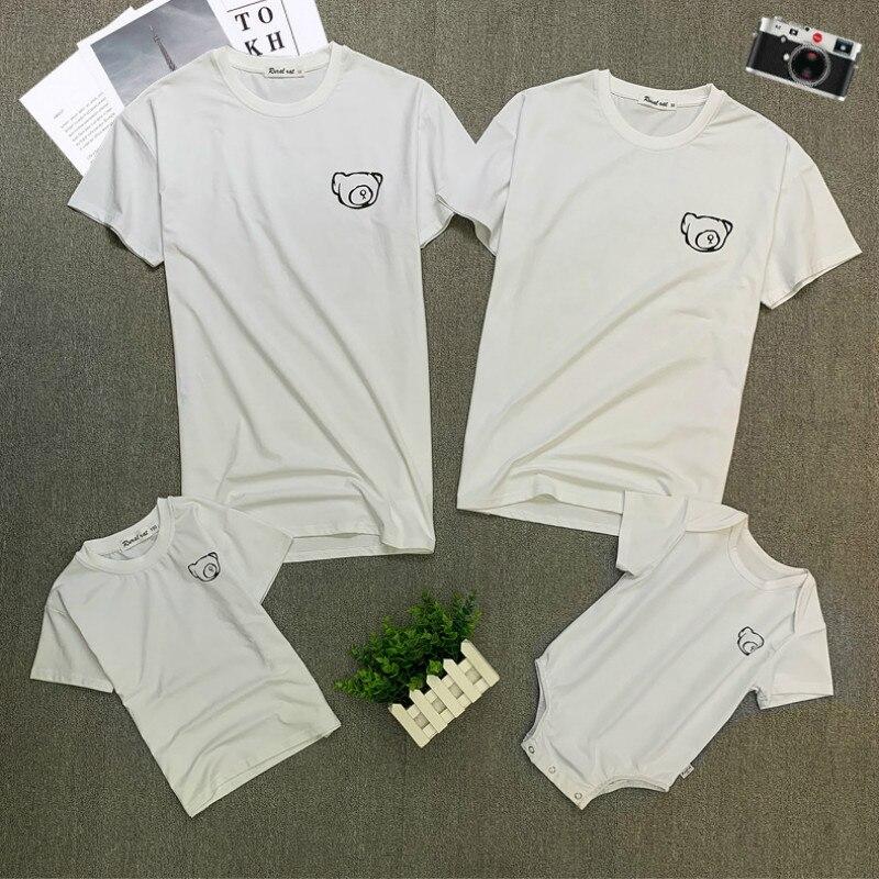 Familia juego ropa trajes mira padre madre hija T camisa camisas de familia ropa de bebé camisetas niños dibujo de fruta Tops CL347
