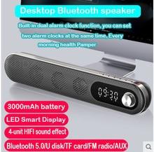 Bluetooth Lautsprecher Wireless Sound Box 3D Surround Sound System Soundbar Hifi Stereo Subwoofer mit 3000 MAh Batterie Fm Radio