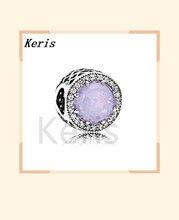 100% 925 ayar gümüş 11 otantik 791725nop opalescent radyant pembe kalpler charm orijinal kadın mücevheratı