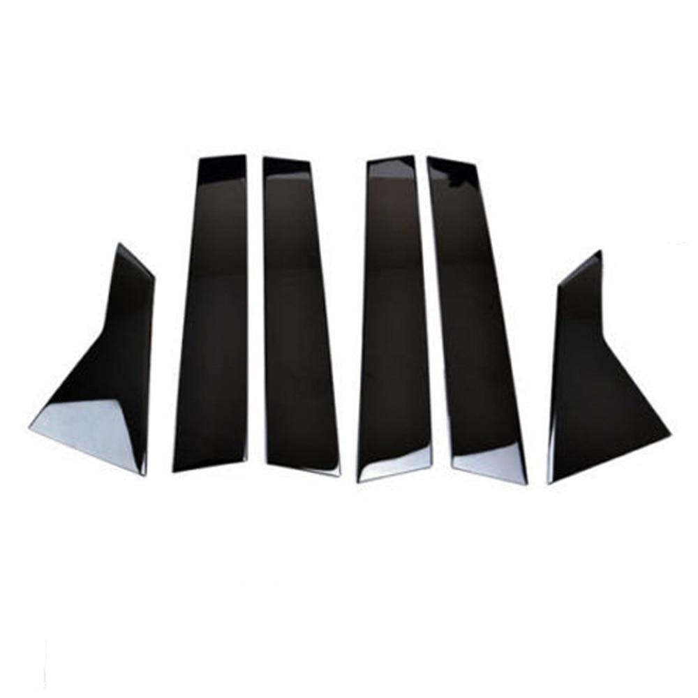 Postes de pilar de ventana adornos 6 uds cubierta para Honda Civic sedán 2016-2018 herramienta