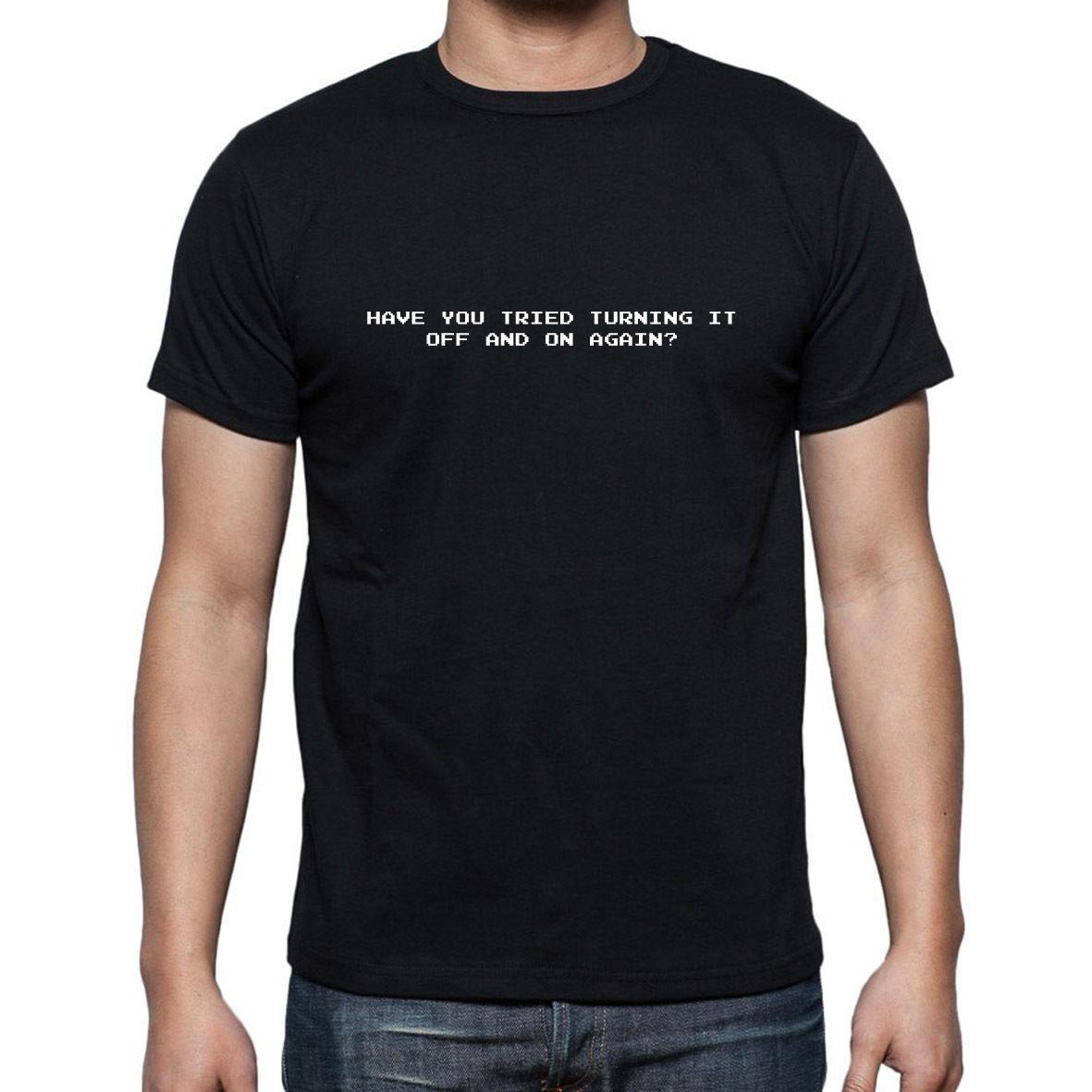 La multitud de TI ha tratado de apagarlo y encenderlo de nuevo inspirado en la camiseta de la comedia por encargo de la buena calidad T Shirt camiseta superior