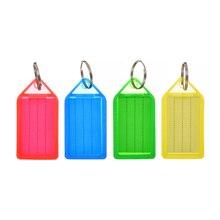 60 piezas de plástico Multi-Color etiqueta llaveros equipaje ID etiquetas llavero con anillo dividido Tarjeta de papel LLavero de cubierta protectora