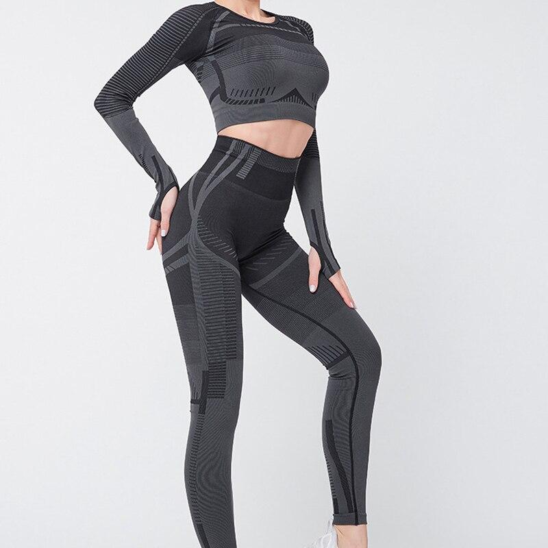 trajes de yoga para mujer ropa de gimnasia Traje de fitness deportivo para mujer conjunto de yoga Ropa para correr yoga top leggings de yoga para mujer Seamless