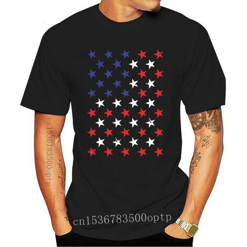 New American Flag Stars America Pride USA Fourth Of July Mens T-shirt