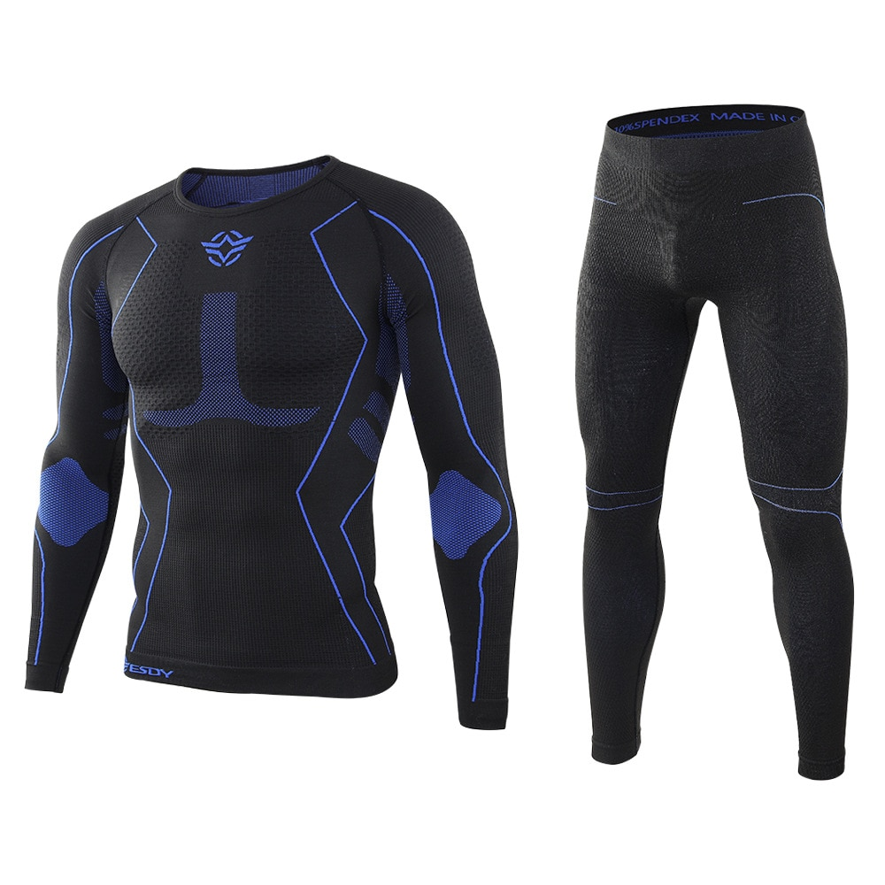 Winter Men Thermal Underwear Sets Fleece Breathable Tactical Sweat Quick Drying Outdoor Sports Tight