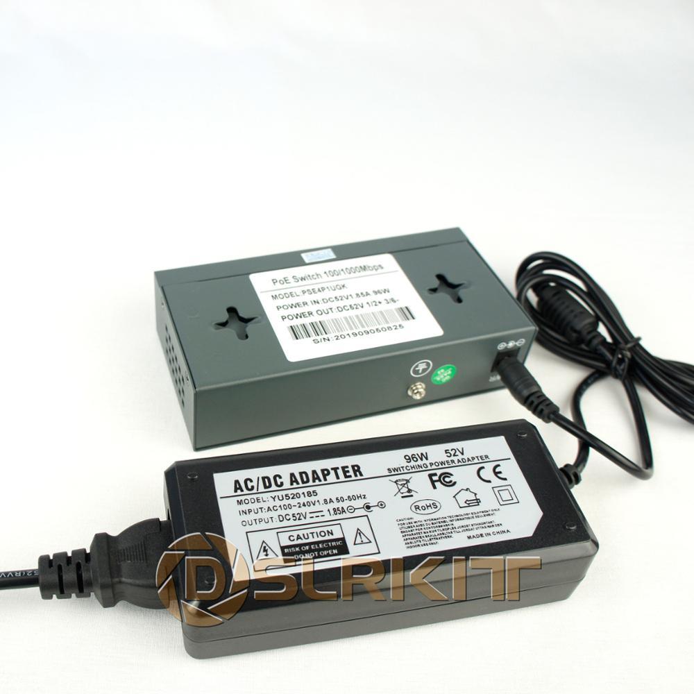 DSLRKIT 96watt ALL Gigabit 5 Ports 4 PoE+ Switch 802.3at af Power Over Ethernet