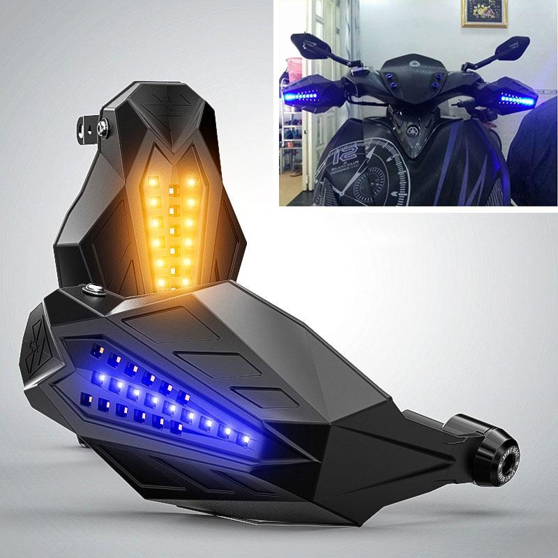 Protectores de mano para motocicleta, cubierta protectora LED para SUZUKI GSXF GSXR 600 K8 K6 KATANA GSX600F BANDIT 400 RM 125