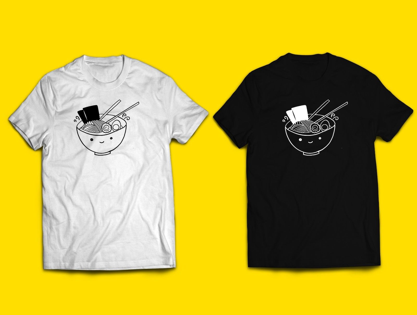 Ramen camiseta japonesa comida Kawaii niños adultos mujeres Unisex Noodle lindo dibujo animado minimalista camiseta hombres Unisex nueva moda