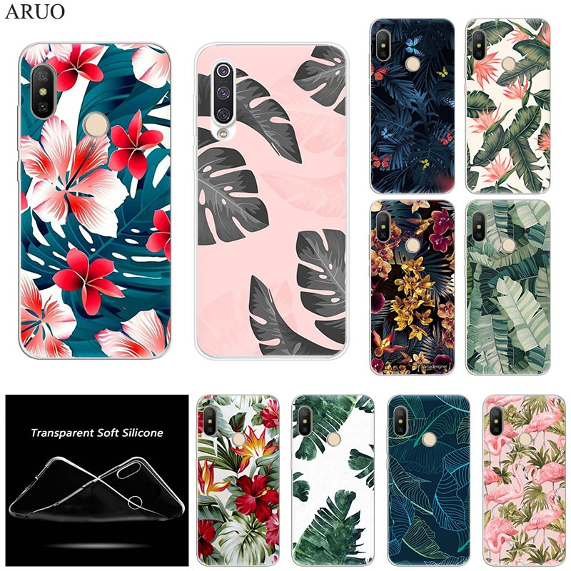 Retro Tropical Plants Banana Leaves phone Case For Xiaomi Mi Note10 CC9 8 se CC9e A3 Max3 F1 X2 Redm