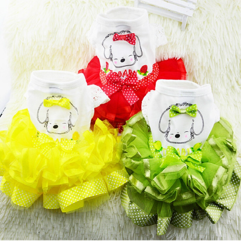 Nuevo vestido para perro mascota ropa para perro pequeño vestido de boda primavera moda falda cachorro ropa primavera moda ropa para mascotas XS-XXL