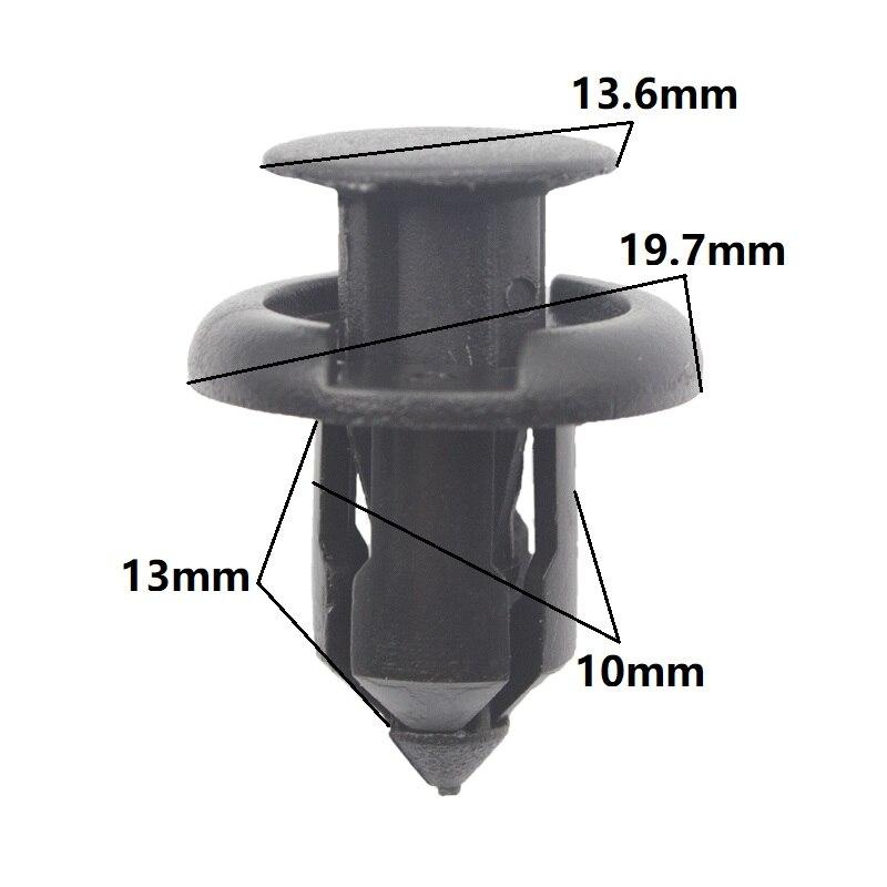 KA LI frente parachoques trasero Clip de cierre 10mm agujero fotos para Honda Acura TL CL RDX RSX