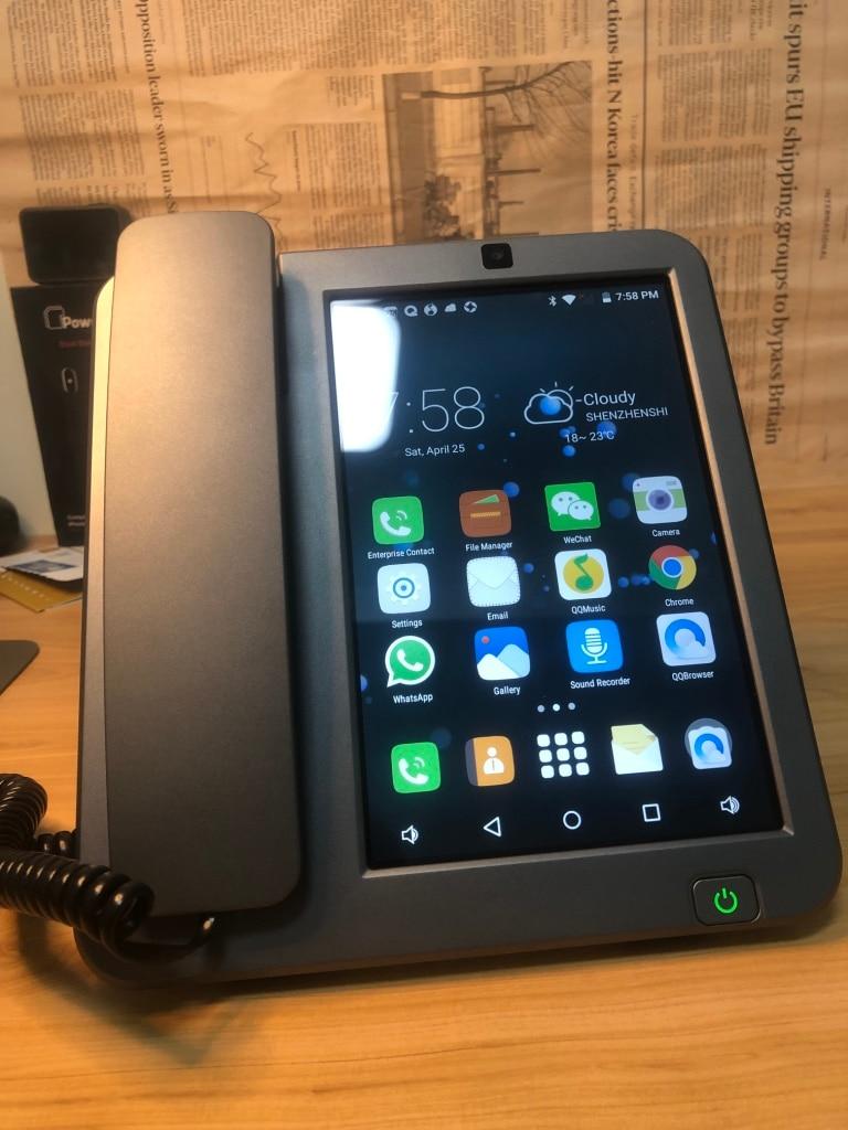 Teléfono Móvil Android LTE fijo 4G SIM red videophone glob universal ancianos WIFI video oficina en casa