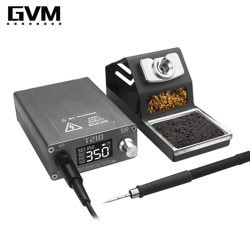 SUNSHINE GVM T210 SOLDERING STATION Quick Heating For Mobile Phone Repair Welding Tool With C210 Soldering Iron Tip enlarge
