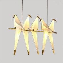 Nordique moderne lustre salon lampe créative oiseau lampe barre de sol applique murale Table Led oiseau lumière cuisine lumières suspendus