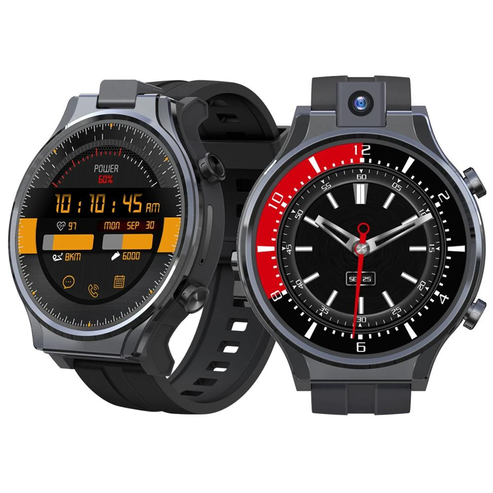Kospet Prime 2 2.1'' 480*480px Screen 4G+64G Octa-core 4G-LTE Watch Phone 1600mAh Battery GPS+Beidou Android 10 Smart Watch Men