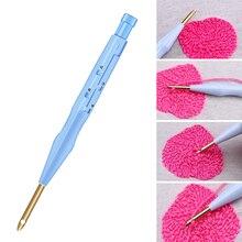 Miusie 1Pcs Plastic Punch Naald Borduren Pen Set Verstelbare Punch Naald Weven Tool Verwisselbare Punch Naald