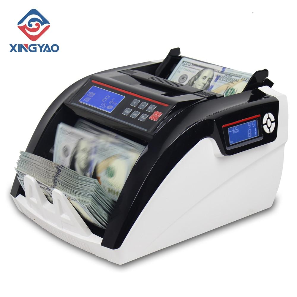 Pantalla LCD 5800D UV/3MG con 3 imanes máquina de conteo de múltiples monedas para contar dinero en efectivo