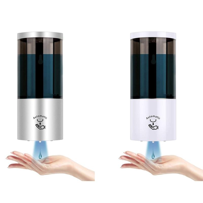 وعاء توزيع الصابون الأوتوماتيكي المثبت على الحائط 500 مللي ، موزع صابون جيل يدوي بدون ضغط للحمام والمطبخ