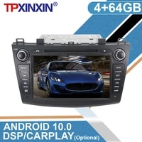 for mazda 3 2 2009 2010 2012 android 10 0 4g64gb car with ips gps navigation multimedia player radio stereo head unit dsp video