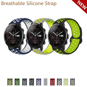 20mm 22mm Silicone Band Strap for Huami Amazfit Stratos 2 2S 3 for GTR 47mm/GTR 2 Replacement Watchband